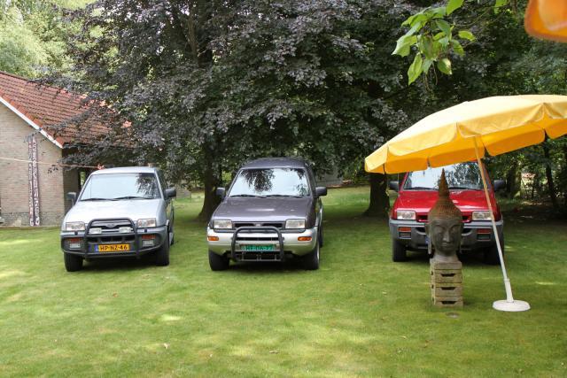 Onze 3 voertuigen op de BBQ