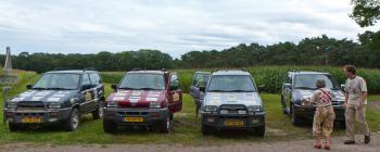 4 auto's tentoongesteld bij het Rotary lustrum