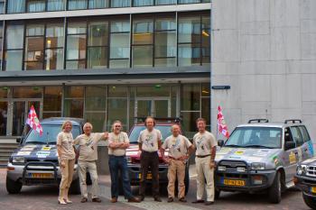 De Rotarians onder de deelnemers